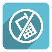 No phone flat icon — Stock Photo