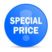 Special price internet blue icon — Stock Photo