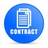 contract internet blue icon — Foto Stock
