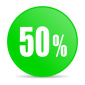 50 percent internet icon — Stock Photo