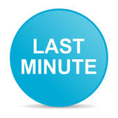 Last minute internet icon — Stock Photo
