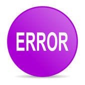 Error web icon — Stock Photo