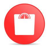 Weight web icon — Stock Photo