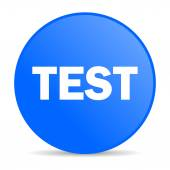 Test internet blue icon — Stock Photo