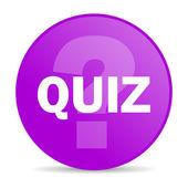 Quiz web icon — Stock Photo