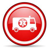 Ambulance web icon — Stock Photo