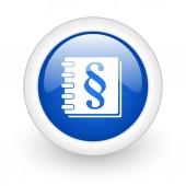Zákon ikona — Stock fotografie