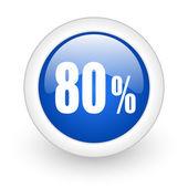 80 percent icon — Stock Photo