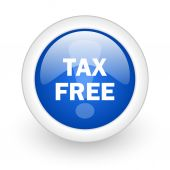 Tax free icon — Stock Photo