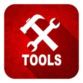 Tools flat icon, christmas button — Stock Photo