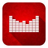 Sound flat icon, christmas button — Stockfoto