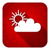 Cloud flat icon, christmas button, waether forecast sign — Foto de Stock