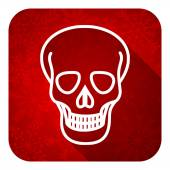 Skull flat icon, christmas button, death sign — Stock Photo