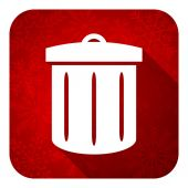 Recycle flat icon, christmas button, recycle bin sign — Stock Photo