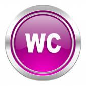 Toilet violet icon wc sign — Stock Photo