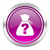 Riddle violet icon  — Stock Photo