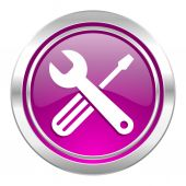 Tools violet icon service sign — Stockfoto