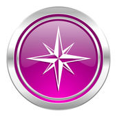 Compass violet icon  — Foto de Stock