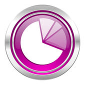 Diagram violet icon graph symbol — Stock Photo