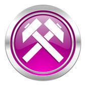 Mining violet icon  — Foto de Stock