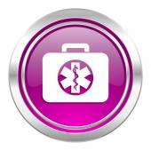 Rescue kit violet icon emergency sign — Zdjęcie stockowe