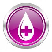 Blood violet icon  — Foto de Stock
