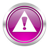 Exclamation sign violet icon warning sign alert symbol — Stock Photo