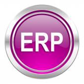 Erp violet icon  — Stock Photo
