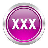 Xxx violet icon porn sign — Stock Photo