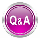 Question answer violet icon  — Stock Photo