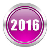 New year 2016 violet icon new years symbol — Stock Photo