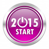 New year 2015 violet icon new years symbol — Stock Photo