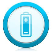 Battery icon power sign — Stock Photo