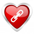 Link valentine icon chain sign — Stock Photo #62928251