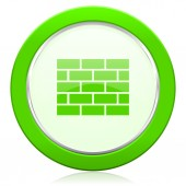 Firewall icon brick wall sign — Stock Photo