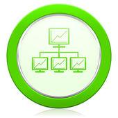 Network icon lan sign — Stock Photo