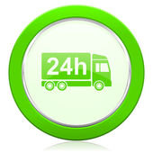 Delivery icon 24h shipping sign — Stock Photo