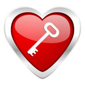 Key valentine icon secure symbol — Stock Photo