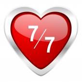7 バレンタイン アイコンあたり 7 — ストック写真