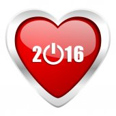 New year 2016 valentine icon new years symbol — Stock Photo