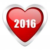 Symbole de nouvel an nouvel an 2016 valentine icône — Photo