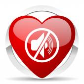 Mute valentine icon silence sign — Stock Photo