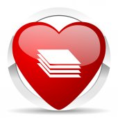 Layers valentine icon gages sign — Stock Photo