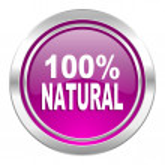 Natural violet icon 100 percent natural sign — Stock Photo #62932575