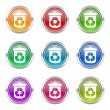 Recycle icons set recycling sign — Stock Photo #62935435