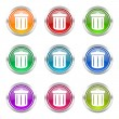 Recycle icons set recycle bin sign — Stock Photo #62936053