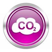 Carbon dioxide violet icon co2 sign — Stock Photo