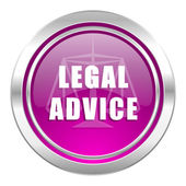 Legal advice violet icon law sign — 图库照片