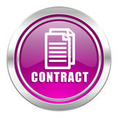 Contract violet icon  — Stock Photo