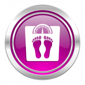 Weight violet icon  — Stock Photo